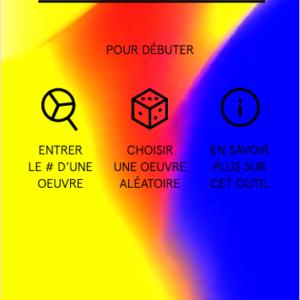 Ecran d'accueil de couleurs manifestes